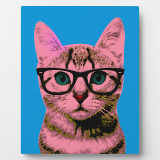 Hipster Cat Plaque