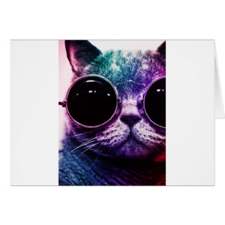 Hipster Cat Pop Art Card