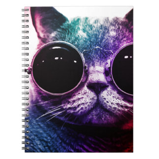 Hipster Cat Pop Art Note Books