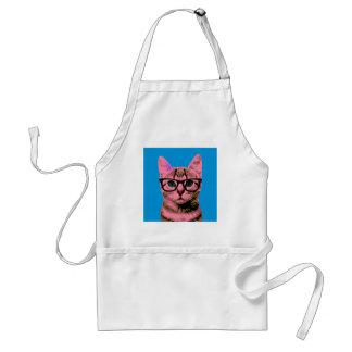 Hipster Cat Standard Apron