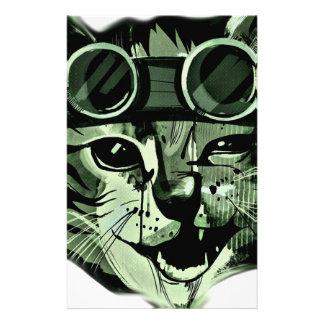 HIpster Cat Stationery Design