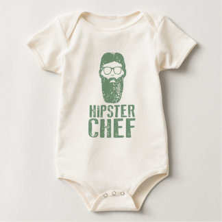 Hipster Chef Baby Bodysuit