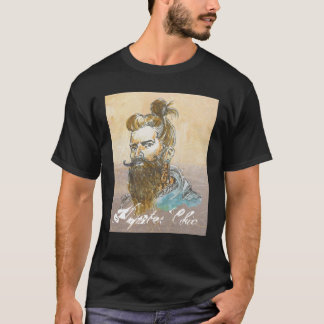 """Hipster Chic""- Men's Basic Dark T-Shirt, Black T-Shirt"