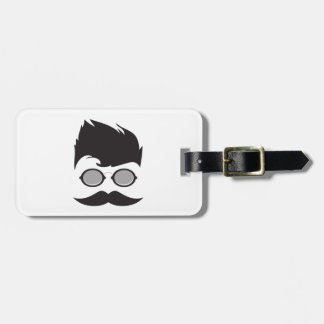 Hipster cool luggage tag
