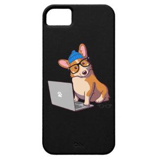 Hipster Corgi 2 Black iPhone 5 Covers