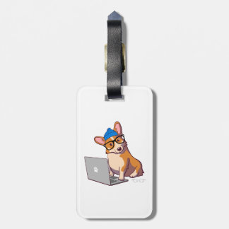 Hipster Corgi 2 Luggage Tag