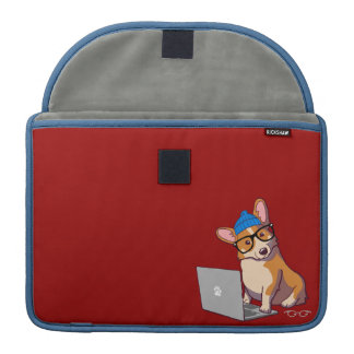 Hipster Corgi 2 Macbook Sleeve MacBook Pro Sleeve