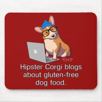 Hipster Corgi 2 Mouse Mat