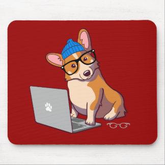 Hipster Corgi 2 (without text) Mouse Mat
