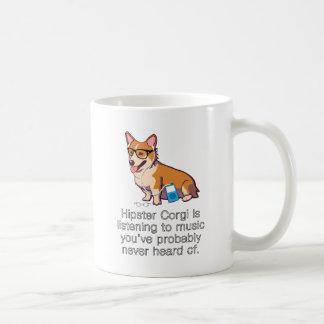 Hipster Corgi Coffee Mug
