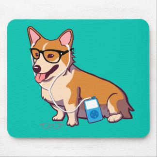 Hipster Corgi Mousepad (without text)