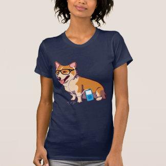 Hipster Corgi T-Shirt without text