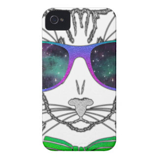 Hipster Cosmos Cat Kitten Space iPhone 4 Case-Mate Case