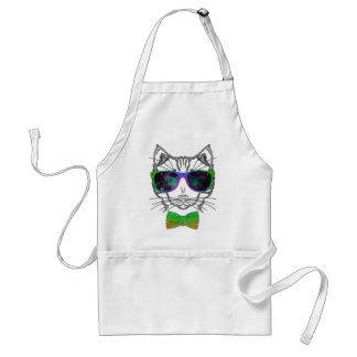 Hipster Cosmos Cat Kitten Space Standard Apron
