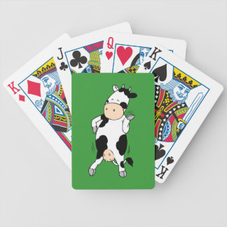Hipster Cow (mooviestars) Bicycle Playing Cards