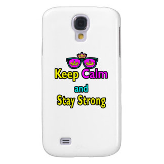 Hipster Crown Sunglasses Keep Calm And Stay Strong HTC Vivid Covers