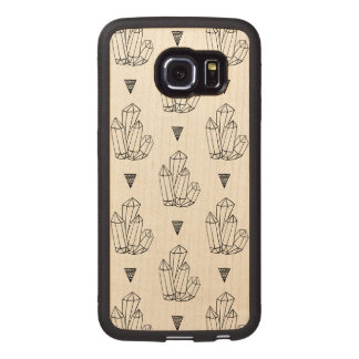 Hipster Crystals Doodle Wood Phone Case