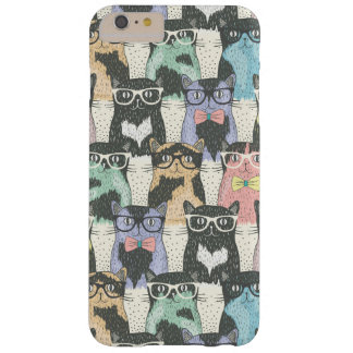 Hipster Cute Cats Pattern Barely There iPhone 6 Plus Case