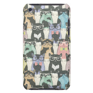 Hipster Cute Cats Pattern Barely There iPod Case