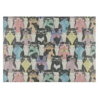 Hipster Cute Cats Pattern Cutting Board