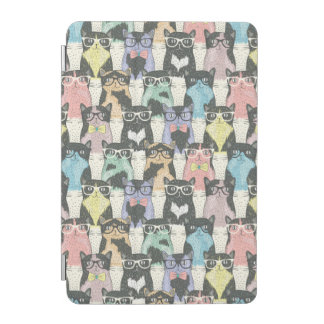 Hipster Cute Cats Pattern iPad Mini Cover