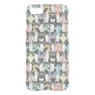 Hipster Cute Cats Pattern iPhone 8/7 Case