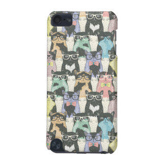 Hipster Cute Cats Pattern iPod Touch (5th Generation) Case