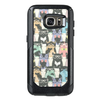 Hipster Cute Cats Pattern OtterBox Samsung Galaxy S7 Case
