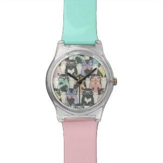 Hipster Cute Cats Pattern Wrist Watch
