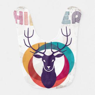Hipster Deer Baby Bib