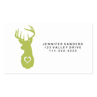 HIPSTER DEER HEAD WITH HEARTS PACK OF STANDARD BUSINESS CARDS