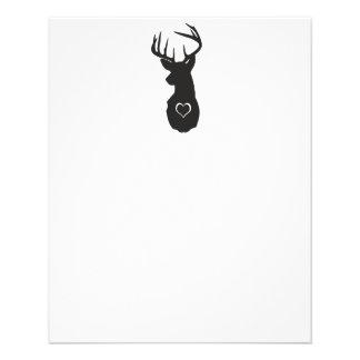 HIPSTER DEER WITH HEARTS 11.5 CM X 14 CM FLYER