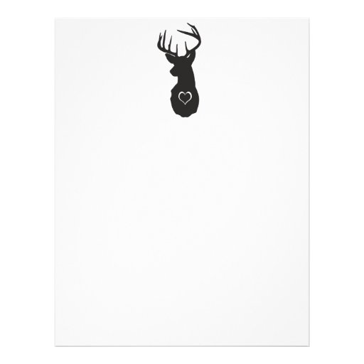 HIPSTER DEER WITH HEARTS CUSTOM FLYER
