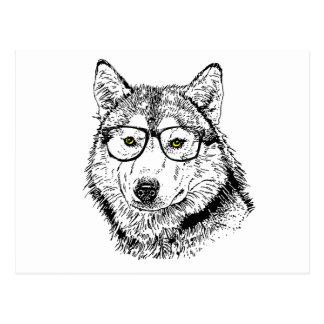 Hipster Dog Postcard