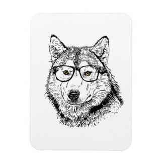 Hipster Dog Flexible Magnet