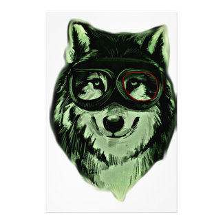 Hipster Dog Style Customized Stationery
