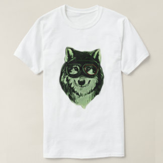 Hipster Dog Wolf Style T-Shirt