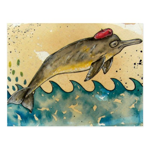 Hipster Dolphin Postcards