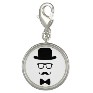Hipster Face Charm