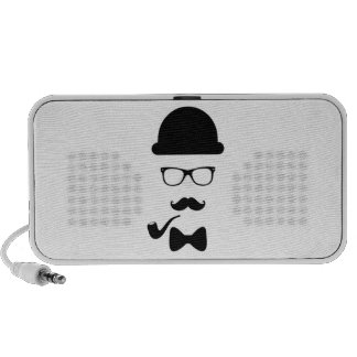 Hipster Face Doodle by OrigAudio™ Laptop Speakers