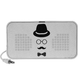 Hipster Face Doodle by OrigAudio™ Notebook Speakers