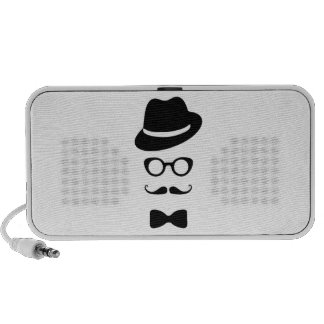 Hipster Face Doodle by OrigAudio™ PC Speakers