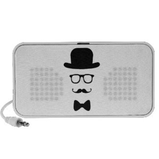 Hipster Face Doodle by OrigAudio™ Mp3 Speakers