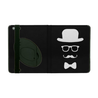 Hipster Face iPad 2 3 4 Air Mini Case w/ Kickstand Cover For iPad