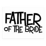 Hipster Father Bride Lite T Postcard