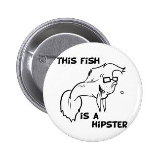 Hipster Fish 6 Cm Round Badge