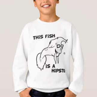 Hipster Fish Sweatshirt
