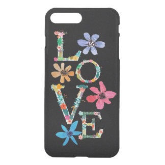 Hipster Flower Power Floral Love iPhone 8 Plus/7 Plus Case