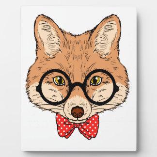 Hipster Fox Fun Unique Plaque