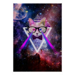 Hipster galaxy cat